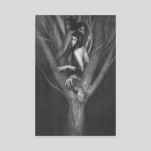 Sisters - Canvas by Lenia Platania