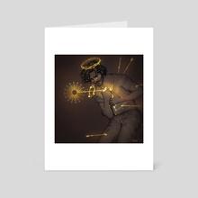 crucify myself - Art Card by Fiammetta  De Innocentis