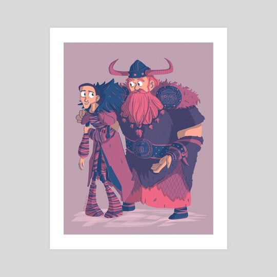 Valka and Stoick by Katie Elle