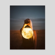Moonlight - Canvas by Justin Peters