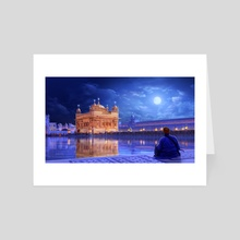 The Golden Temple - Art Card by Surendra Rajawat