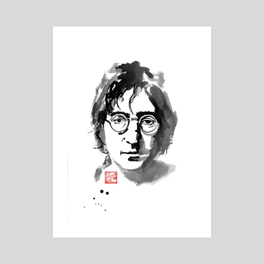 John Lennon An Art Print By Philippe Imbert Inprnt