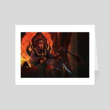 Lord Ishvali, Cruel King - Art Card by Raashaad Jones
