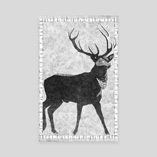 Birch Buck - Canvas by Malcolm Maune