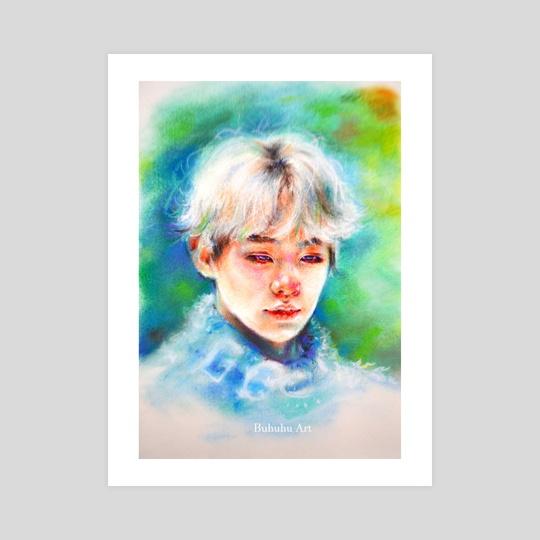 Yoongi - 'Lost in the blue' by Buhuhu Art