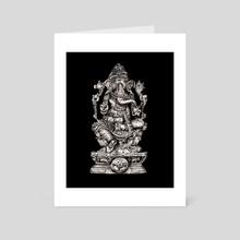 Lord Ganesh - Art Card by Damian Foreman
