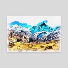Mountains - Canvas by valeriy ustinov