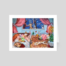 Wonderful good pictures For new year and Christmas. Family happiness. - Art Card by Elena Reutova