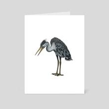 Heron - Art Card by Adam Lindsay Honsinger
