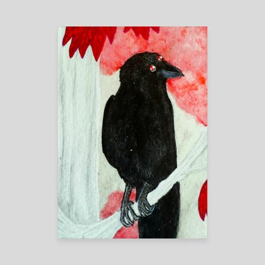 three eyed raven by Lesath Lux