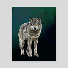 THE WOLF: THE GREY HUNTER - Canvas by Rebecca Allen