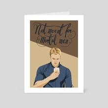 contemplating that drink - Art Card by Barbara Hudeczek