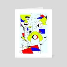 Naughts & Crosses - Art Card by Alberto Carlos  Montana  © ( ͡° ʖ̯ ͡°)