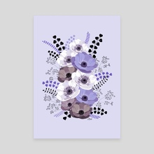 Floral bouquet III - Canvas by Anis Illustration