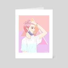 Taeyong - Vaporwave - Art Card by jungmi k