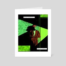 pq - Art Card by Nicole Rifkin