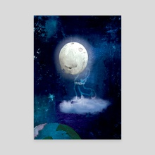 The loneliness of Moon Boy - Canvas by Si Barnes