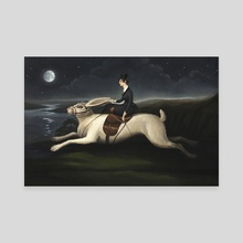 Night Rider - Canvas by Evgeniya Vladykina
