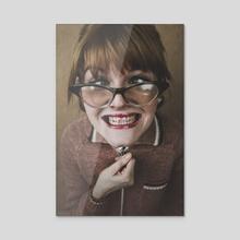 nerd - Acrylic by dorota rutkowska