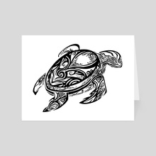 Tribal Turtle - Art Card by Katrina Wold