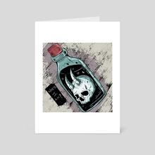 In the bottle - Art Card by Aldo Santiago  Macias