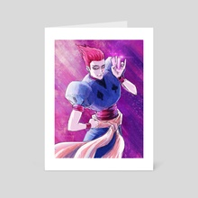 Hisoka Morow Hunter x Hunter - Art Card by Michael DeNicola