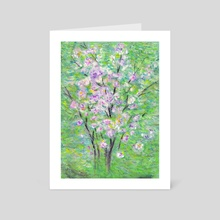 rhododendron in spring - Art Card by Erice E-Moll
