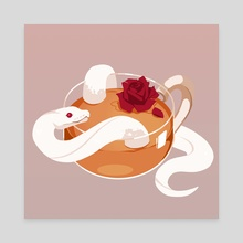Rose Tea - Canvas by Re(h)sa / Hasenherz