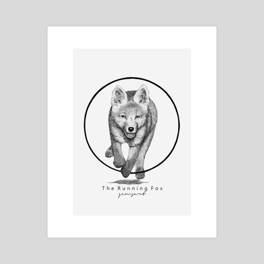 The Running Fox - Animal Drawing Series by Raditya Sanjaya