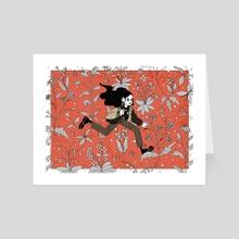 Wild running - Art Card by Nowhere Ross