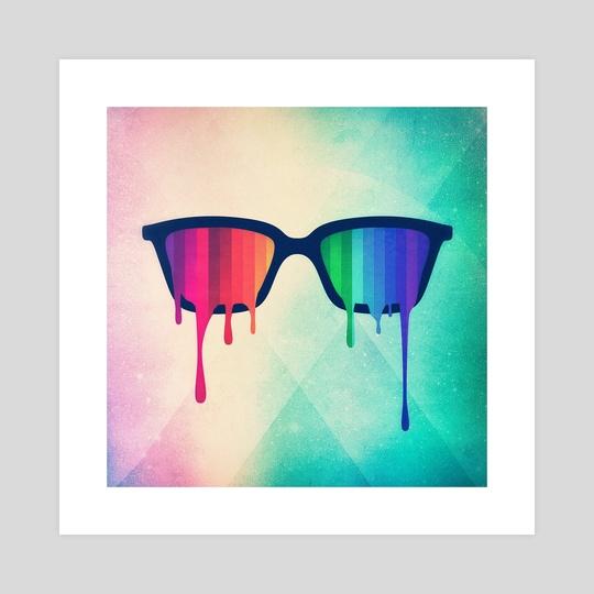 Love Wins! Rainbow - Spectrum (Pride) / Hipster Nerd Glasses by Philipp Rietz