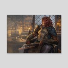 Jaded Sell-Sword - Acrylic by Randy Vargas