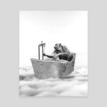 CHIMPANZEE BATH - Canvas by Gloria Sánchez