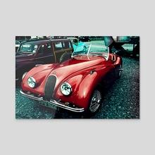 Vintage Car - Acrylic by Michael Cain