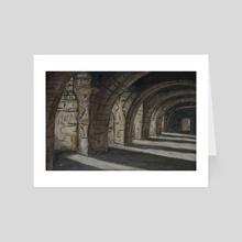 Through the Corridors i Follow - Art Card by Aiden Olivier