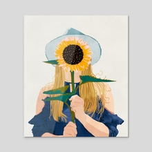 Miss Sunflower V2 - Acrylic by 83 Oranges