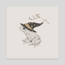 frog in a magic hat - Canvas by Xeni Ponomarenko