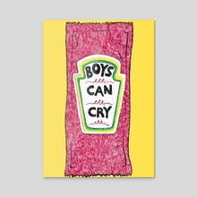 Boys Can Cry - Acrylic by Ranggasme