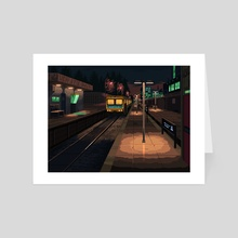 Train Station - Art Card by Khaled Makhshoush