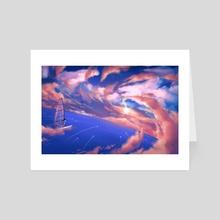 Race the Stars - Art Card by Aurora Lion