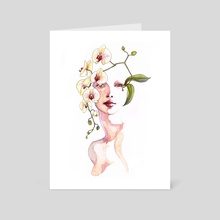 Orchid - Art Card by Lindsay van Ekelenburg