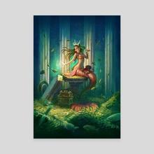 Extravagant Mermaid - Canvas by Yasushi Matsuoka