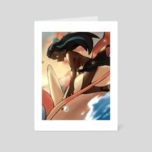 Nessa & Milotic - Art Card by Nux
