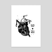 Mouth Shut, Eyes Open - Canvas by Omri Kadim
