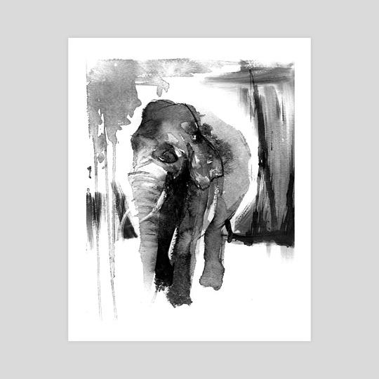 Asian Elephant by Crystal Smith