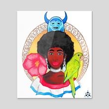 A Sequel to Dominican Culture - Acrylic by Gabriela Taveras
