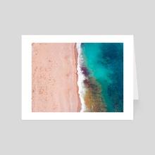 Aerial shot on a beach in Antalya turkey - Art Card by Mohammad Eid