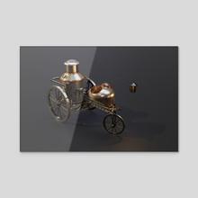 Steambot 02 - Acrylic by Sasha Belousov