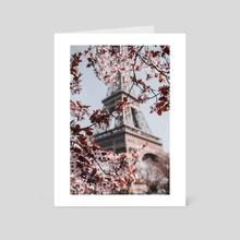 Eiffel Tower Paris - Art Card by Monika Lis