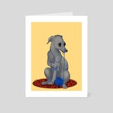 Yarnhound  - Art Card by Taylor  Poppy